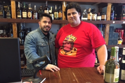 La Cantina wine clerk Nick Rukaj and co-owner Anthony Angrisani (R to L)