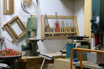 Tools inside Bronx Wood Works