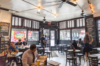 Inside Mott Haven Bar and Grill
