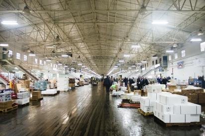 Inside Fulton Fish Market
