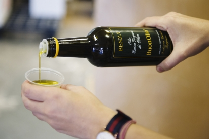 Olive oil tasting, perfect for dipping crusty bread in