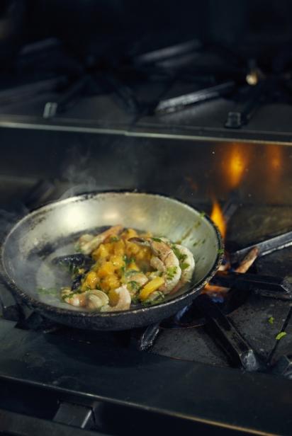 Shrimp, mussels and butternut squash