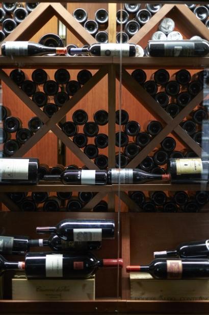 Inside Robertos restaurant, which offers an extensive wine list