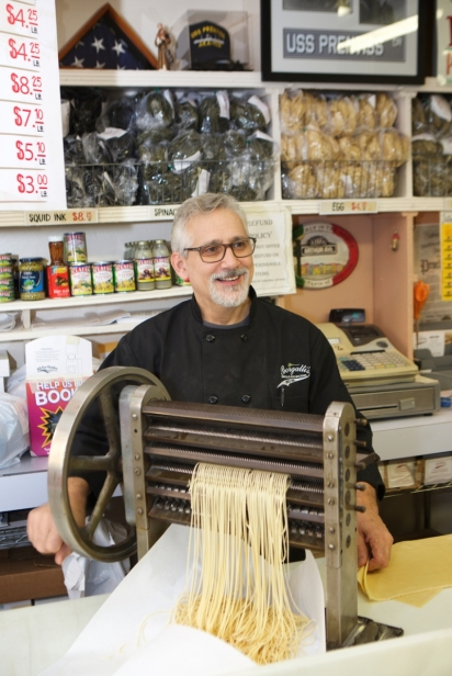 third-generation owner of Borgatti's Ravioli & Egg Noodles, Chris Borgatti