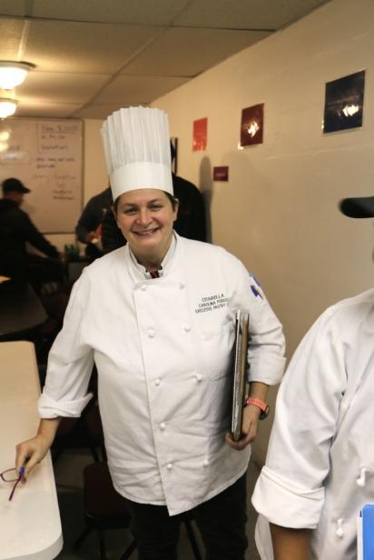 Executive Pastry Chef Carolina Perego,  a native Italian speaker is a student of ESL Works at Citarella.