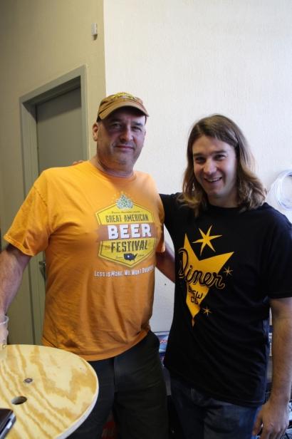 Chris Sheldon (R) owner of The Diner Brew Co in Mount Vernon