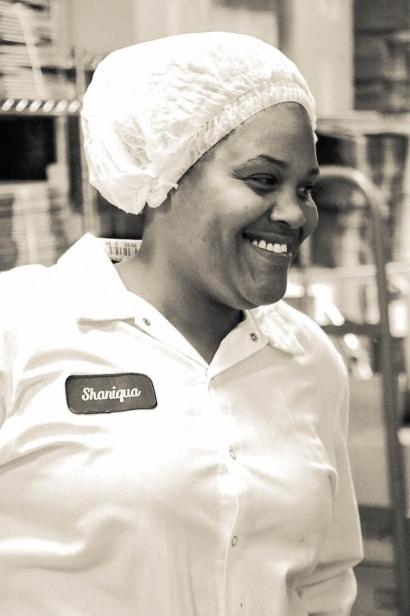 """Shaniqua """"Shay"""" Anderson, a three-year veteran of Greyston Bakery"""