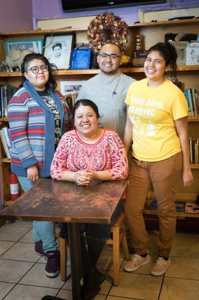 Yajaira, Marco, Carolina, and their mother Natalia
