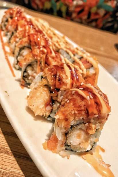 Shrimp Tempura wrapped with Spicy Crab w/ Special Sweet Spicy Mayo Sauce