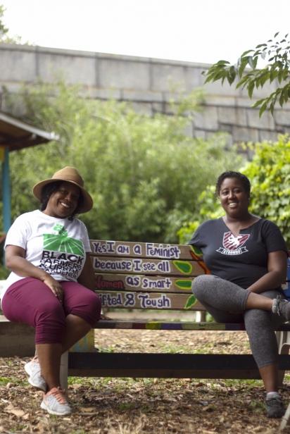 Community organizer Regina Ginyard and urban farmer Suzanne Babs