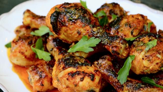 Grilled Peri Peri Chicken Legs