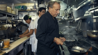 Chef Roberto Paciullo behind the line at his namesake restaurant Roberto's