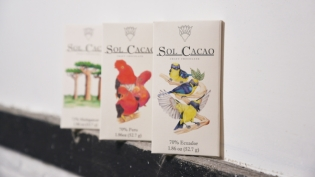Three single origin bars offered by Sol Cacao